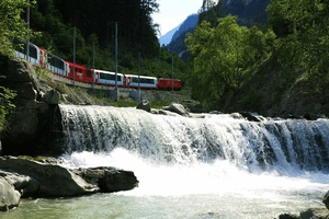 Swiss Mountains and Glacier Express